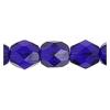 Fire Polished 7mm Transparent Cobalt Blue